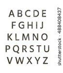 metal alphabet. 3d rendering | Shutterstock . vector #488408437