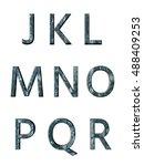 metal alphabet. 3d rendering | Shutterstock . vector #488409253