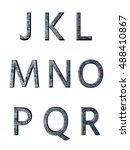 metal alphabet. 3d rendering | Shutterstock . vector #488410867