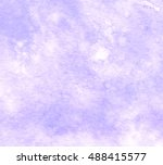 violet watercolor hand drawn... | Shutterstock . vector #488415577