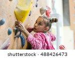 junior climber girl shirt... | Shutterstock . vector #488426473