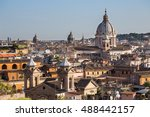 aerial panoramic cityscape of... | Shutterstock . vector #488442157