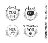 thank you ink hand drawn...   Shutterstock .eps vector #488453257