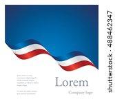 new brochure abstract design... | Shutterstock .eps vector #488462347
