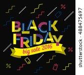 black friday sale inscription... | Shutterstock .eps vector #488475697