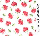 watercolor flowers. seamless...   Shutterstock . vector #488488693
