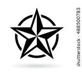 black star shape vector... | Shutterstock .eps vector #488500783