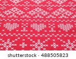 red and white criss cross... | Shutterstock . vector #488505823