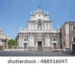 catania  sicily  italy   jul 25 ... | Shutterstock . vector #488516047