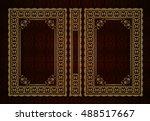 vector classical book cover.... | Shutterstock .eps vector #488517667