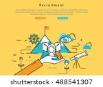 line flat vector business... | Shutterstock .eps vector #488541307