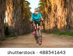 happy smiling cute young sporty ... | Shutterstock . vector #488541643