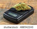 marijuana cannabis bud close up ... | Shutterstock . vector #488542243