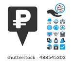 rouble map pointer icon with... | Shutterstock .eps vector #488545303