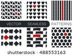 set with six seamless patterns...