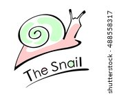 the snail  which is slowly... | Shutterstock .eps vector #488558317