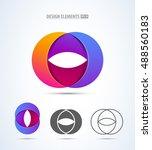 vector abstract 3d letter o... | Shutterstock .eps vector #488560183