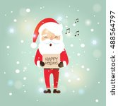 santa claus  vector | Shutterstock .eps vector #488564797