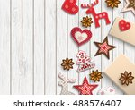 christmas background  small... | Shutterstock .eps vector #488576407