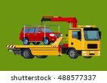 car towing truck online ... | Shutterstock .eps vector #488577337