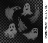 Scary Ghost Characters Set Wit...
