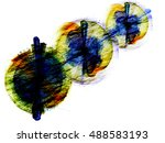 infographic smoke multicolored... | Shutterstock . vector #488583193