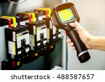 technician use thermal imaging... | Shutterstock . vector #488587657
