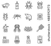 pest control icons set.... | Shutterstock .eps vector #488592973