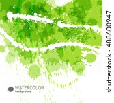 abstract green background with... | Shutterstock .eps vector #488600947