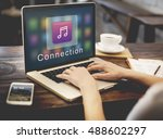 application connection digital... | Shutterstock . vector #488602297