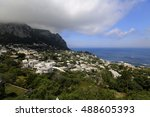 view of city of capri in... | Shutterstock . vector #488605393