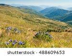 carpathian mountains in late... | Shutterstock . vector #488609653