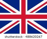flag of united kingdom   Shutterstock .eps vector #488620267