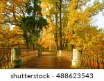 clear autumn day in the... | Shutterstock . vector #488623543