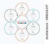 thin line infographic element.... | Shutterstock .eps vector #488626147