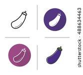 eggplant icon. flat design ... | Shutterstock . vector #488634463