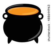 witch cauldron | Shutterstock .eps vector #488644963