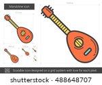 Mandoline Vector Line Icon...