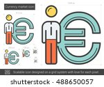 currency market vector line... | Shutterstock .eps vector #488650057