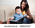 a portrait of a mother and a... | Shutterstock . vector #48865567
