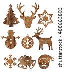 Set Of Christmas Wood...