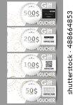 set of modern gift voucher... | Shutterstock .eps vector #488664853