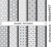arabic vector pattern  web page ... | Shutterstock .eps vector #488664907