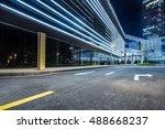 clean asphalt road through... | Shutterstock . vector #488668237