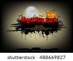 halloween party. vector... | Shutterstock .eps vector #488669827