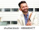 close up portrait of happy... | Shutterstock . vector #488680477