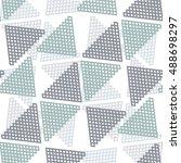 pattern grid  triangle ... | Shutterstock .eps vector #488698297