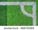 corner football from top view. | Shutterstock . vector #488705083