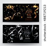 holiday background. invitation... | Shutterstock .eps vector #488719213