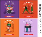 set of musician and singers.... | Shutterstock . vector #488720437